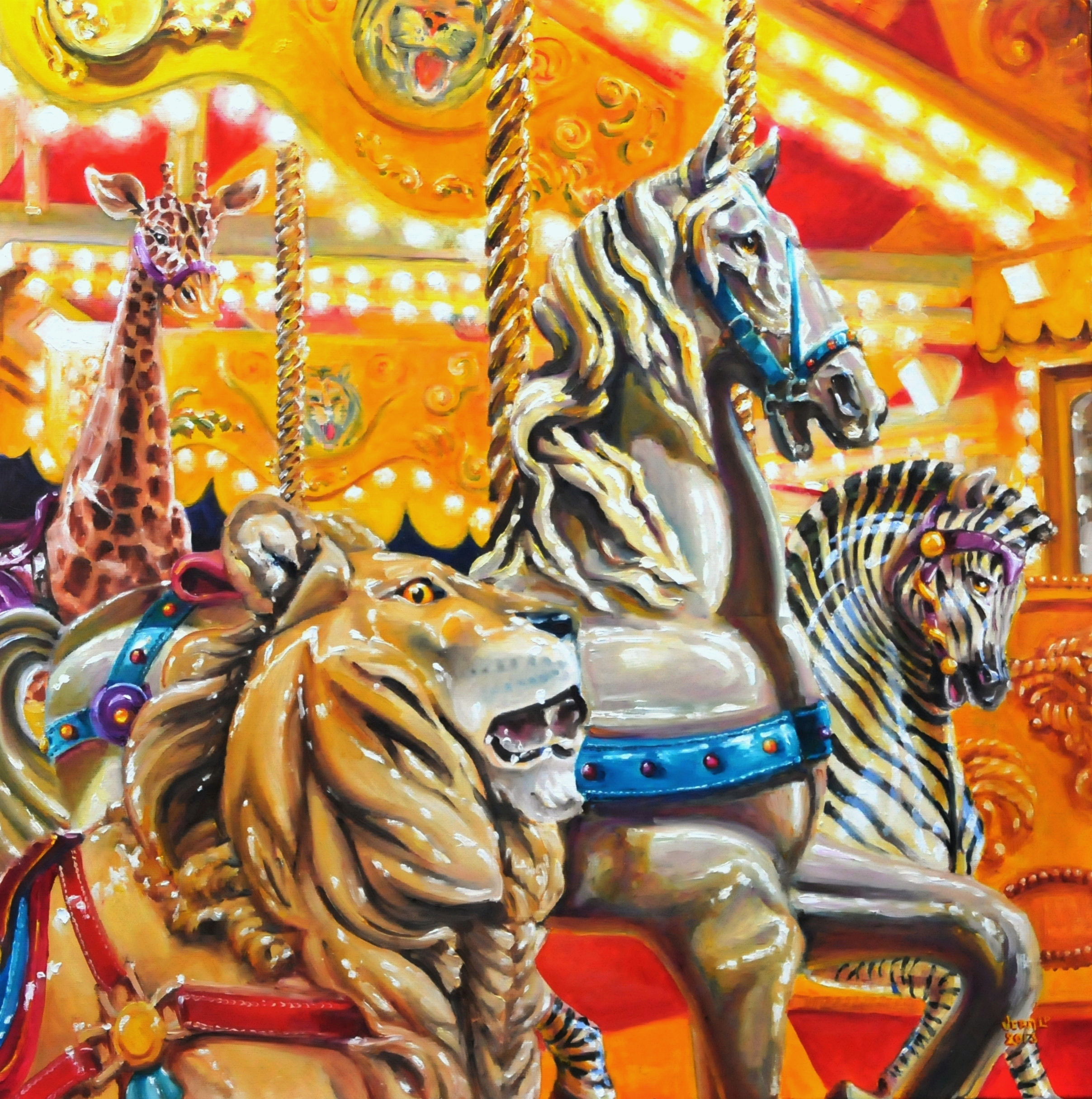 vera cauwenberghs fine art painter: oil painting carousel merry-go ...